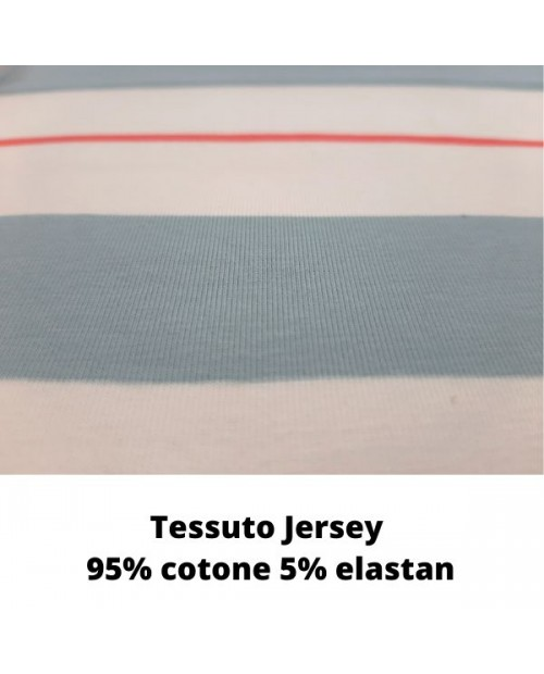 Tessuto in Jersey Surfing Coord Stripe
