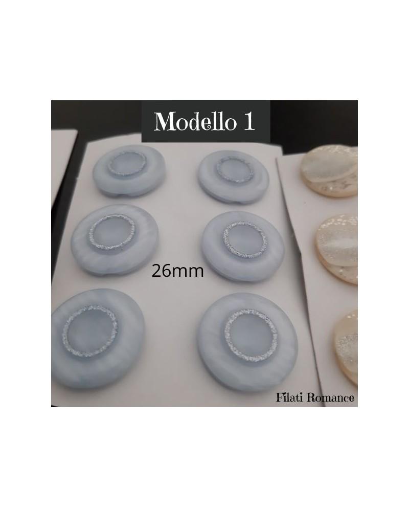 Bottoni in plastica, varie misure e modelli