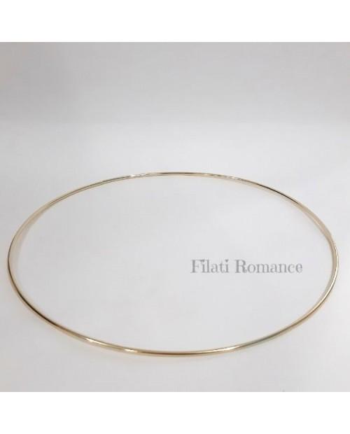 Cerchio in metallo dorato da 25 cm - Anelli per creativi
