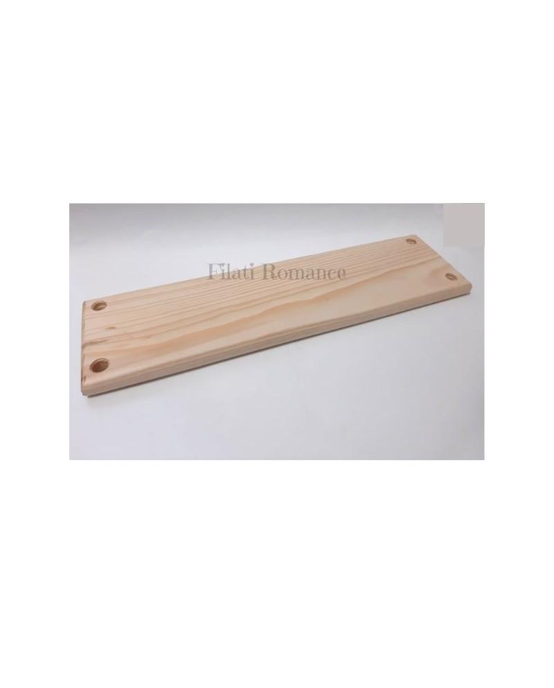 mensola di legno naturale da 35 cm