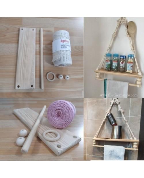 Kit Creativo: Mensola multiuso a macramè