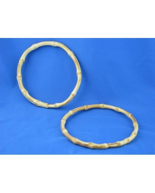 Manici in bamboo cerchio da 17 cm