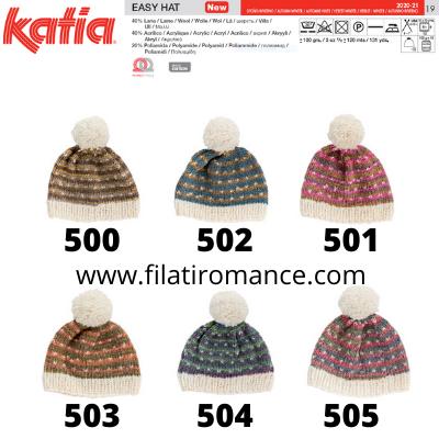 easy hat katia cartella colori