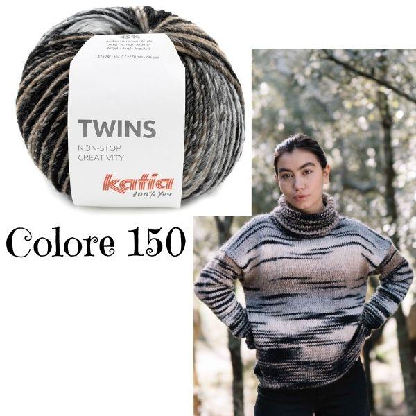maglione da donna Katia Twins Non stop Creativity