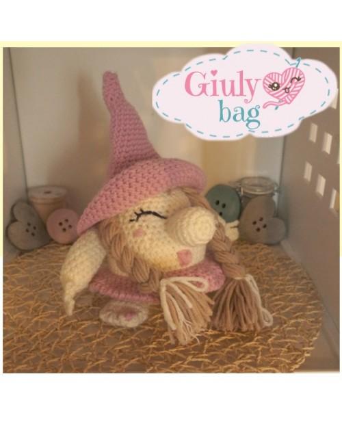 Pinky Gnoma Giuly Bag - Kit con videolezioni e schema per creare un amigurumi
