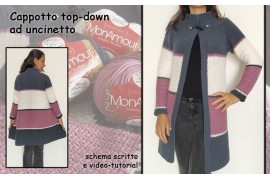 Cappotto top down ad uncinetto